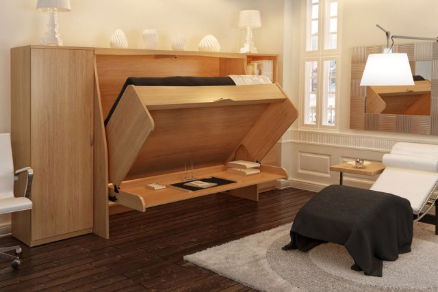 enfin du mobilier escamotable multifonctionnel marie france l ger design. Black Bedroom Furniture Sets. Home Design Ideas