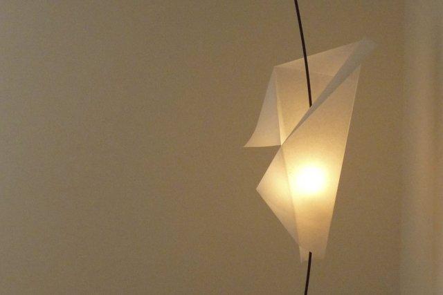 Une Lampe Suspendue Comme Un Origami Marie France L Ger