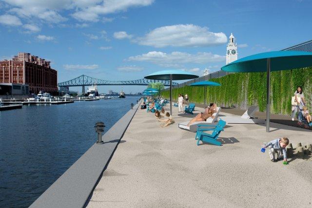 Une plage urbaine ouvrira l'an prochain dans le... (Photo: fournie par la Société du Vieux-Port)