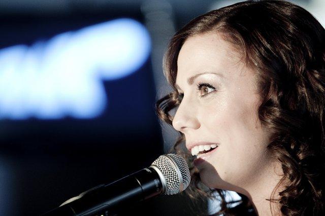 L'animatrice de Mixmania2, Julie St-Pierre.... (Photo: Marco Campanozzi, La Presse)