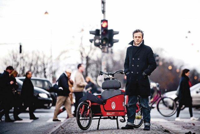 Le blogueur Mikael Colville-Andersen à Copenhague, où les... (Photo: fournie par Vélo Québec)