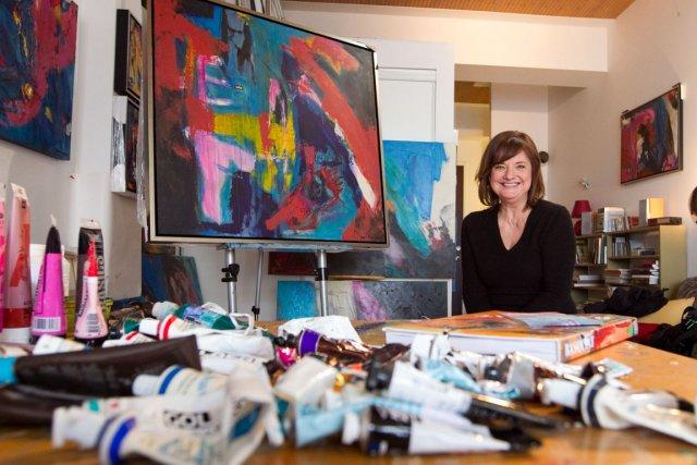 Suzanne Coupal a pris des cours de sculpture... (Photo: Hugo-Sébastien Aubert, La Presse)