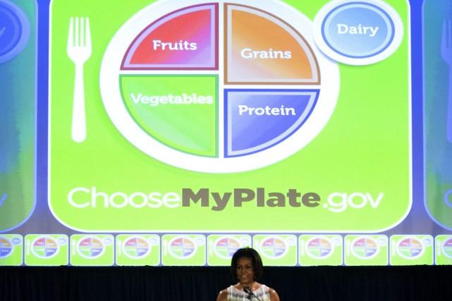 michelle obama porte parole de l 39 assiette id ale nutrition. Black Bedroom Furniture Sets. Home Design Ideas