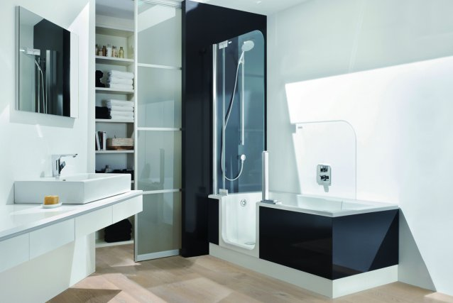 Une salle de bain qui accroche l\'oeil | Marie-France Léger | Design