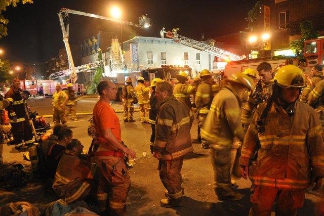 La cause de l'incendie est indéterminée, et c'est... (Photo: Sylvain Ryan, collaboration spéciale)