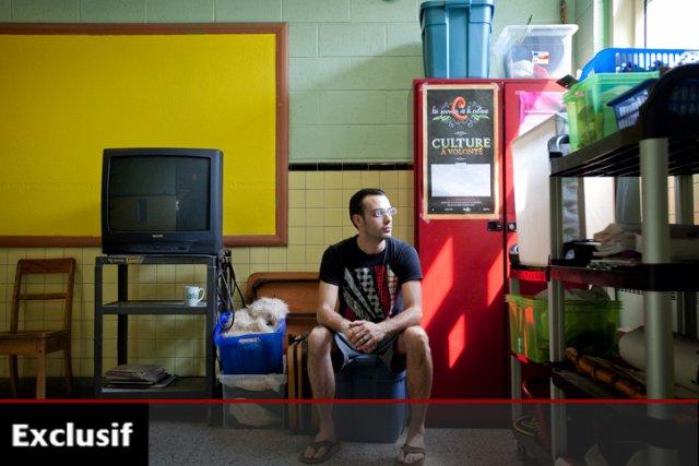 Guillaume Normandeau, professeur d'art dramatique à l'école primaire... (Photo: Marco Campanozzi, La Presse)