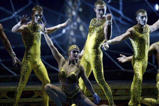 Le spectacle Zarkana lors des répétitions au Radio... (Photo AFP)