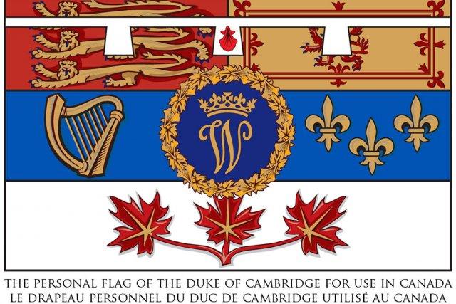 harper d voile un drapeau pour la visite royale au canada. Black Bedroom Furniture Sets. Home Design Ideas