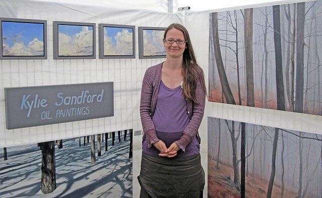 Le séjour de l'artiste cowansvilloise Kylie Sandford à... (Photo Étienne Fortin-Gauthier)