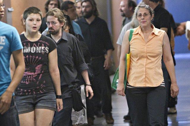 Tania Dubeau-Gaudreault, Charles-André Therrien et Liliane Dupont ont... (Photo: Patrick Sanfaçon, La Presse)