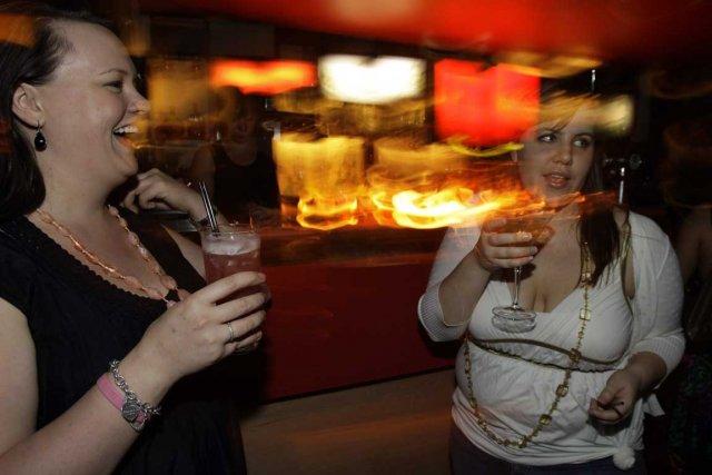 Les participantes à l'étude se sont toutes saoulées... (Photo AP)