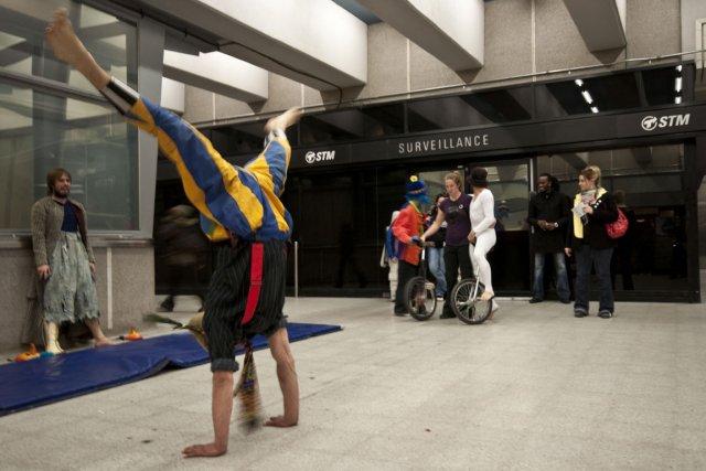 Le projet Hors-piste, cirque social, permet à des... (Photo: Jean-François Mary, fournie par Cirque du Monde Montréal)