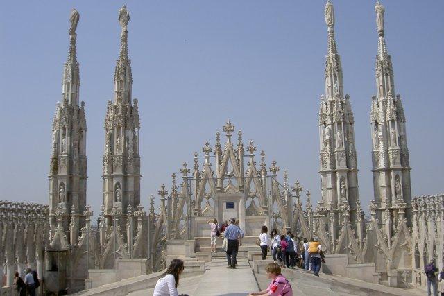 Sur le toit de Duomo.... (Photo Lucie Lavigne, La Presse)