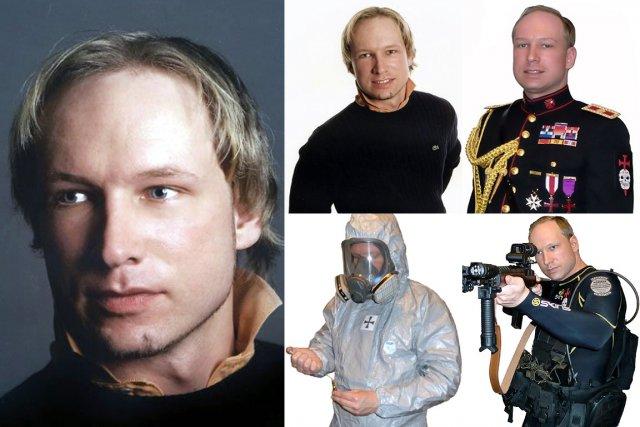 Anders Behring Breivik, sur des photos tirées de... (Photo: AFP)