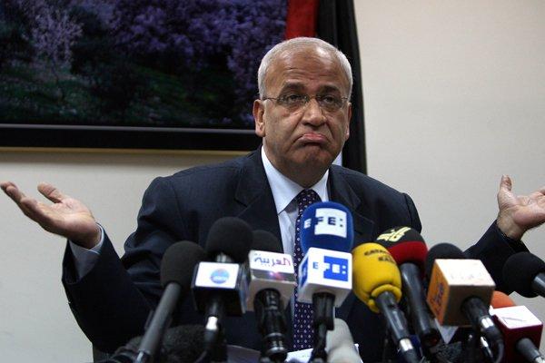 Le négociateur palestinien Saëb Erakat a minimisé les... (Photo AFP)