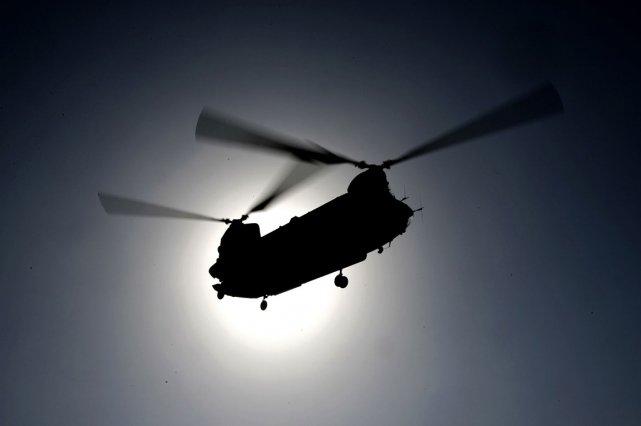 L'écrasement de l'hélicoptère en Afghanistan a fait 11... (Photo: AFP)