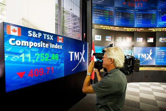 L'indice composé S&P/TSX a avancé de 76,23 points... (La Presse Canadienne)