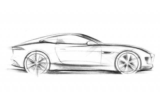 Un croquis de la Jaguar C-X16.... (Photo: AFP)