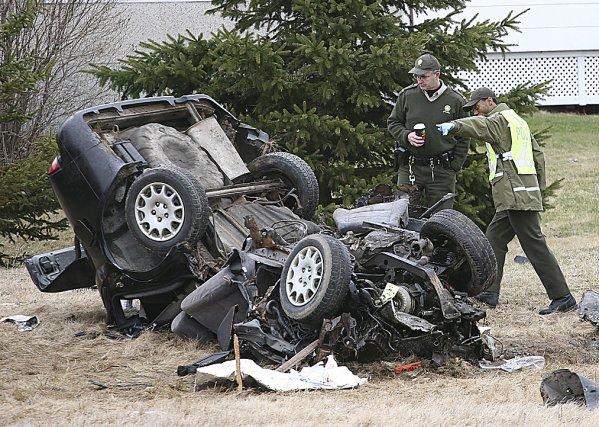 La nuit de l'accident, la voiture conduite par... (photo archives La Voix de l'Est)