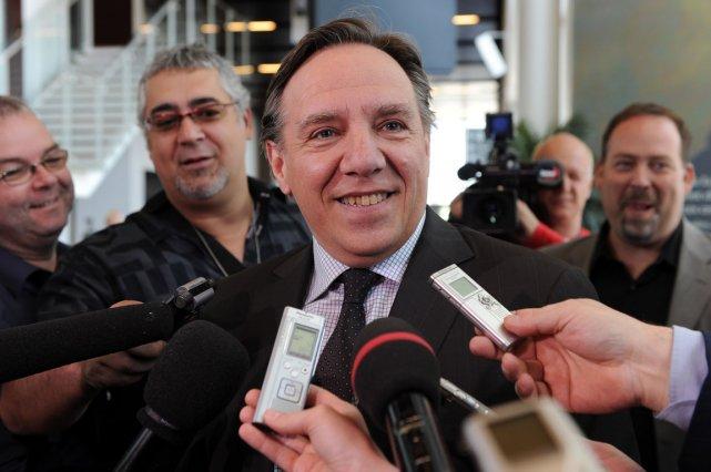 François Legault promet un mandat unique de cinq... (Photo: Erick Labbe)