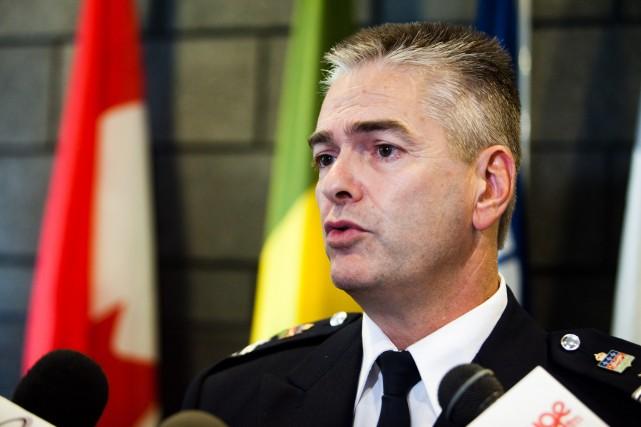 Directeur de la formation policière, Paulin Bureau a... (Photo: Olivier Croteau)