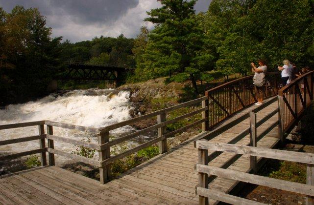 Le parc des chutes Sainte-Ursule.... (Photo: François Gervais)