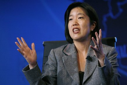 Michelle Rhee, la «chancelière à 100 milles à... (Photo: Reuters)