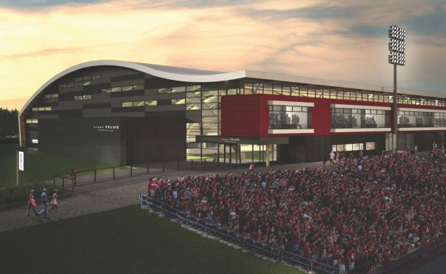 Le stade du super peps s 39 appellera telus universit laval for Piscine universite laval