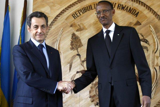 Lors de sa visite à Kigali, le président... (Photo: Rémy de la Mauvinière, AFP)