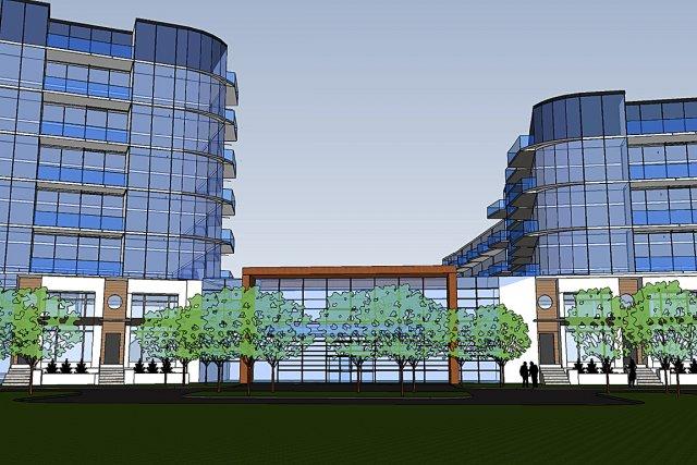 Le nouvel immeuble comprendra huit étages hors sol... (Croquis construction Michel Gagnon)