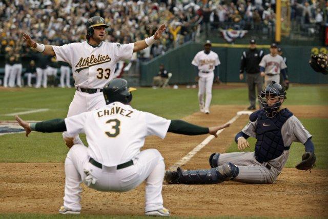 C'est en 2002 que les A's d'Oakland ont... (Photo: AP)