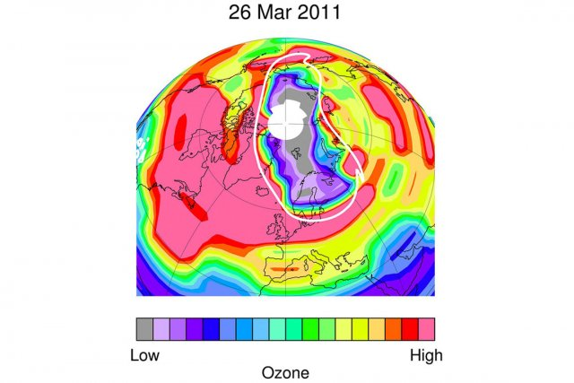 Un trou sans pr c dent dans la couche d 39 ozone dans l 39 arctique charles c t environnement - Qu est ce que la couche d ozone ...