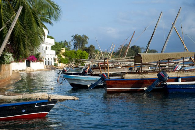 Le village de Shela, sur l'archipel de Lamu... (Photo: AFP)
