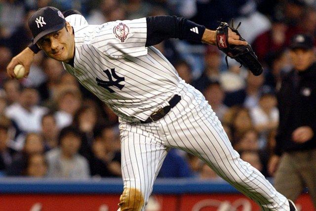 Robin Ventura alors qu'il jouait pour les Yankees... (Photo: Shannon Stapleton, Reuters)