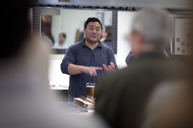 Le chef David Chang à la librairie Appetite... (Photo: André Pichette, La Presse)