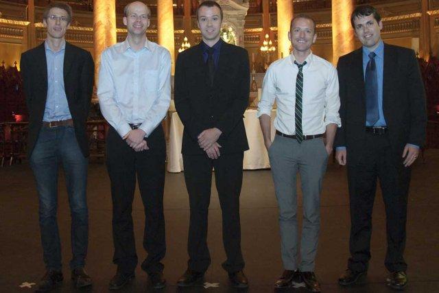 Les finalistes du Concours international d'orgue du Canada... (Photo fournie par Martin Boucher Communications)