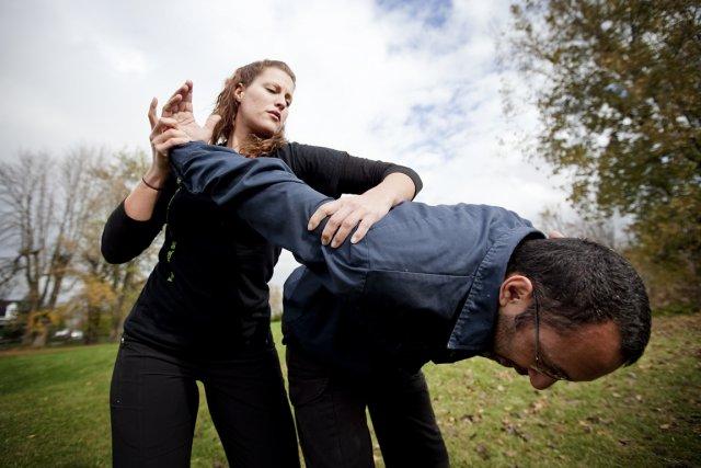 Démonstration de krav maga... (Photo: Marco Campanozzi, La Presse)