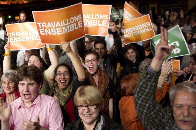 Le NPD a envoyé 59 députés québécois à... (Photo André Pichette, La Presse)