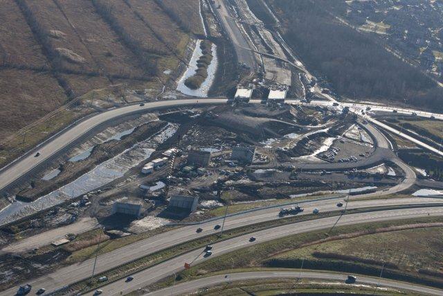 Le parachèvement de l'autoroute 30 sert moins à... (Photo: Ivanoh Demers, La Presse)