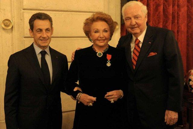 Le président français, Nicolas Sarkozy, Jacqueline Desmarais et... (Photo Marc Chaumeil, collaboration spéciale)