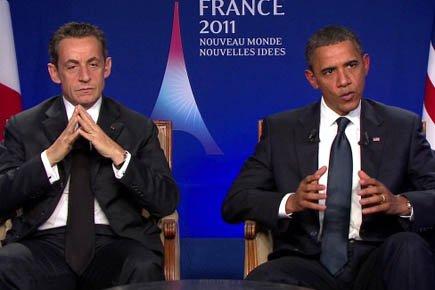 Nicolas Sarkozy et Barack Obama (ici dans le... (Photo: Reuters)