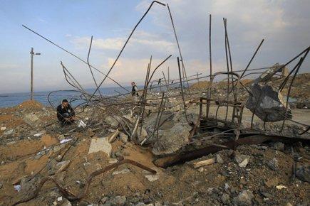 Dans la bande de Gaza, un raid aérien... (Photo: AFP)
