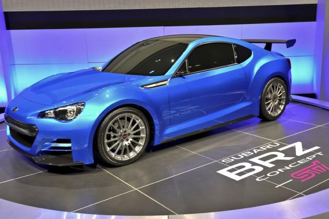 Le prototype du futur coupé BRZ de Subaru... (Photo fournie par Subaru)
