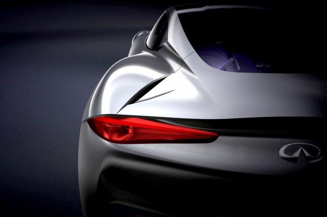 Esquisse de la future voiture sport hybride d'Infiniti.... (image fournie par Infiniti)
