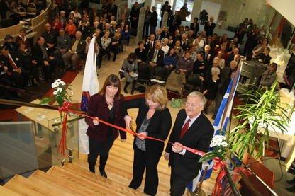 La nouvelle bibliothëque municipale de Magog a été... (La Tribune, Jean-François Gagnon)
