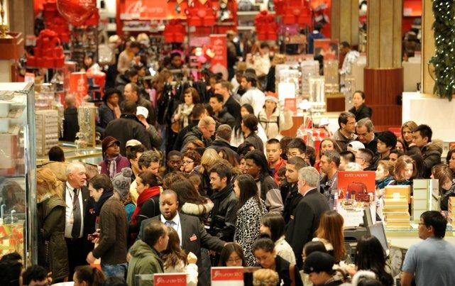 Pour le Black Friday, certains commerces américains comme... (AFP)