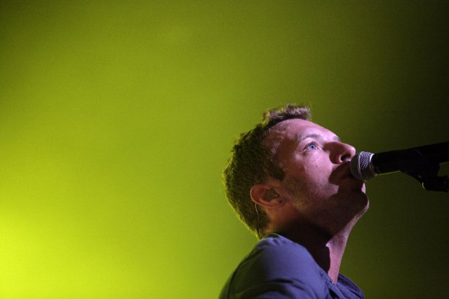 Chris Martin... (Photo: AFP)