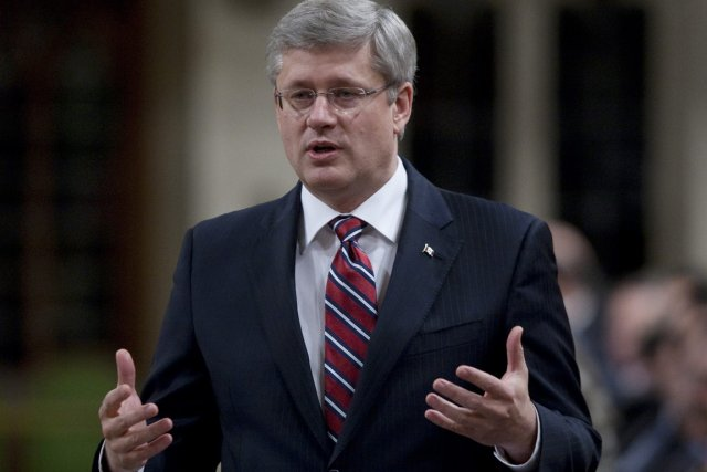 Stephen Harper... (Photo: Adrian Wyld, Archives PC)