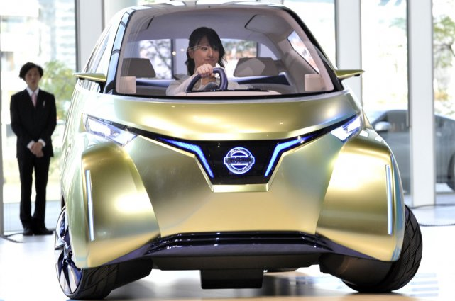 Le prototype Nissan Pivo 3.... (Photo AFP)