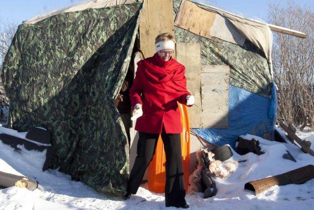 Nycole Turmel est allée visiter la réserve crie,... (Photo La Presse Canadienne)